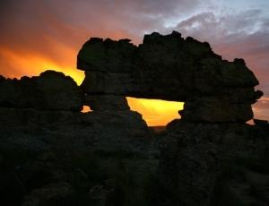 Coucher du soleil au parc national d'Islao