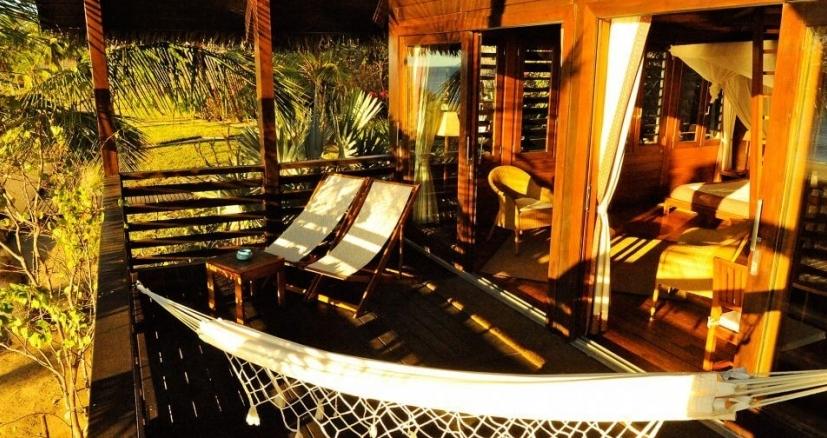 Coucher du soleil sur la terrace au Anjajavy lodge