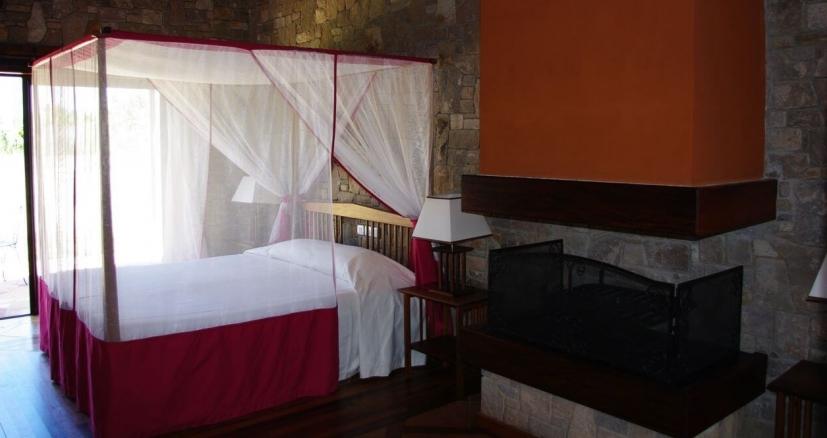 Chambre à coucher hotel jardin du Roy