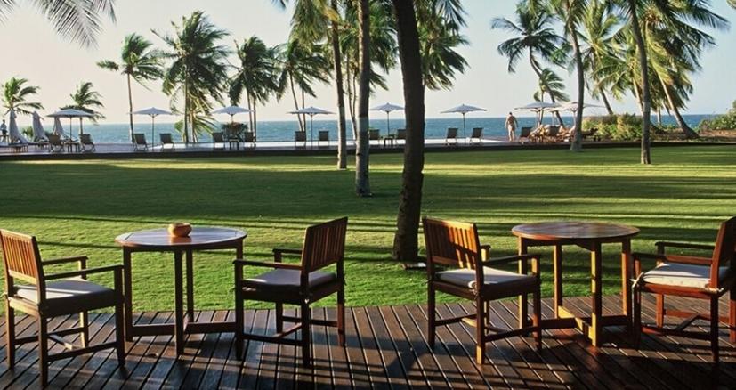 Anjajavy lodge vue sur l'océan et jardins